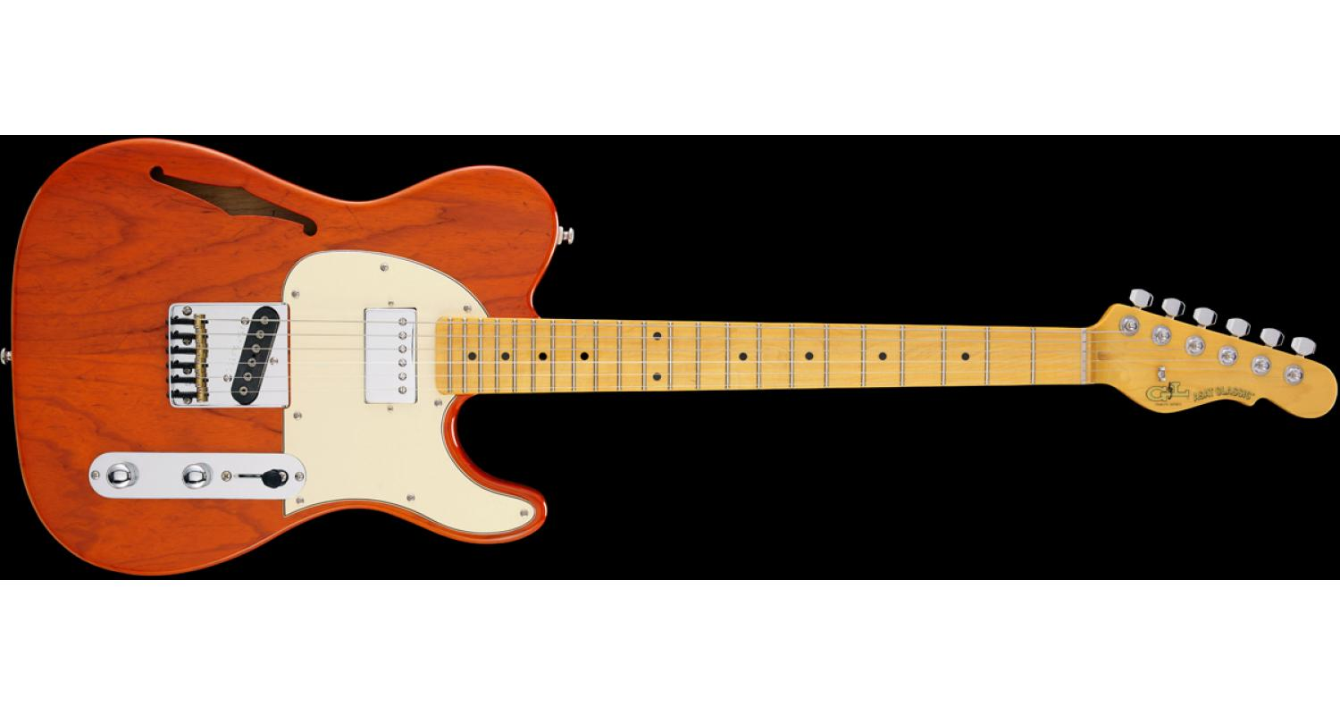 G&L ASAT Classic Bluesboy Semihollow Orange Maple