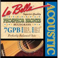 La Bella Phosphor Bronze Wound 7GPB 12-56 Bluegrass