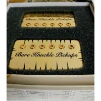 Bare Knuckle Nailbomb Humbucker Set Gold Battleworn